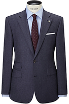 Chester By Chester Barrie Flannel Wool Tailored Suit Jacket, Airforce