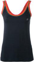 Blumarine contrast trim vest - women - Nylon/Spandex/Elastane - 42