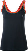 Blumarine contrast trim vest - women - Nylon/Spandex/Elastane - 44