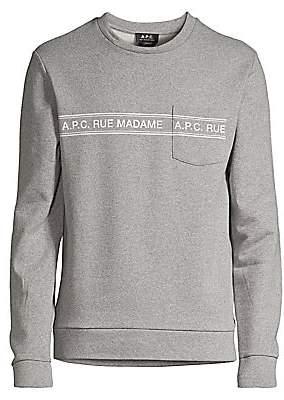 A.P.C. Men's Rue Madame Heathered Sweatshirt