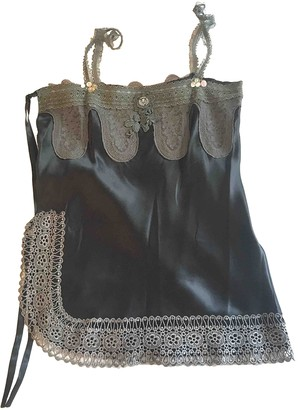 Les Petites Black Silk Top for Women