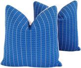 One Kings Lane Vintage Coastal Blue/White Nautical Pillows Pair