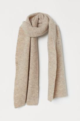 H&M Large Wool-blend Scarf - Beige