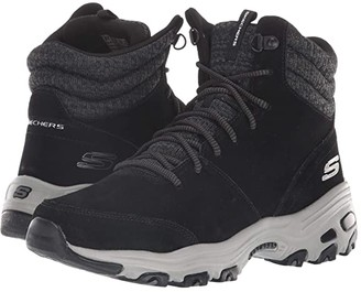 Skechers D'Lites - Chill Flurry (Black) Women's Boots