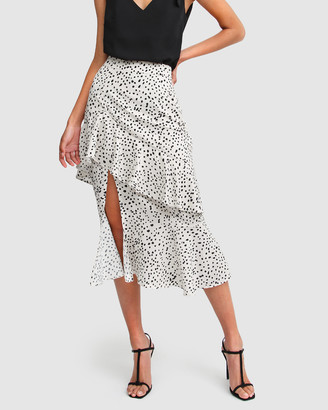 Belle & Bloom Women's White Midi Skirts - Heart Strings Tiered Skirt - Size One Size, S at The Iconic