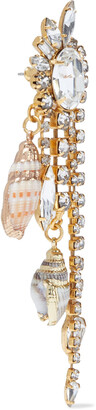 Elizabeth Cole Holland 24-karat Gold-plated, Swarovski Crystal And Faux Shell Earrings