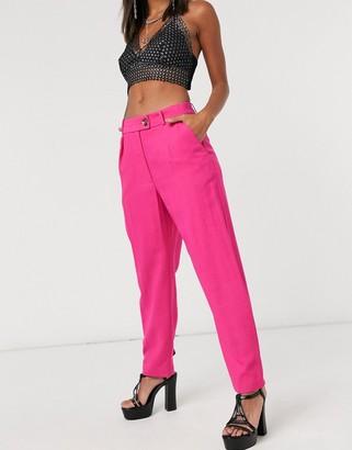 Topshop slim trouser in pink