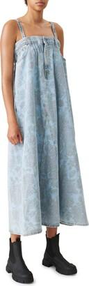 Ganni x Levi's(R) Floral Print Denim Maxi Dress