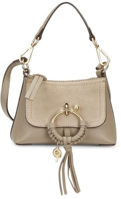 See by Chloe Mini Joan Suede & Pebbled Leather Hobo Bag