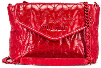 Miu Miu Leather Shoulder Bag in Red | FWRD