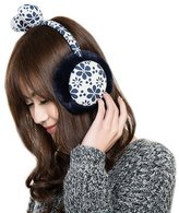 Panda Superstore Fashion Floral Lace Earmuff Faux Fur Deep Ear Protect