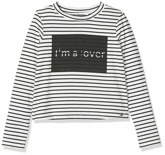 Ikks Junior Girl's Tee Shirt Ml Mariniere I'm A Lover T