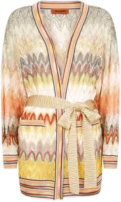 Missoni Long Sleeve Tie Waist Cardigan