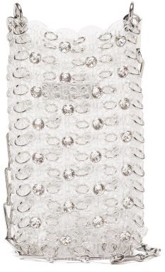 Paco Rabanne 1969 Crystal And Pvc Chainmail Cross-body Bag - Clear