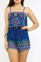 Flying Tomato Bohemian Blue Romper
