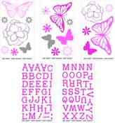 NoJo Butterfly Bouquet Wall Decals