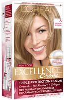 L'Oreal Excellence Triple Protection Permanent Hair Color Creme Medium Blonde 8