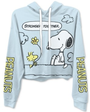 Freeze 24-7 Trendy Plus Size Peanuts Cropped Hoodie