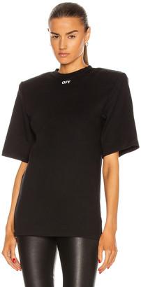 Off-White Shoulder Pad T-Shirt in Black & White | FWRD