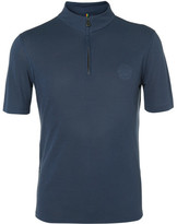 Iffley Road - Sidmouth Drirelease Half-zip T-shirt - Storm blue