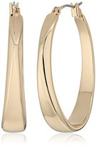 "Robert Lee Morris Set In Stone"" Sculptural Oval Hoop Earrings"