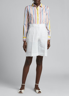 Loro Piana Bermuda Linen Shorts