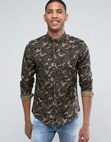Asos Regular Fit Shirt In Camo print