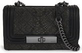 Aldo Derogali snake-embossed quilted shoulder bag