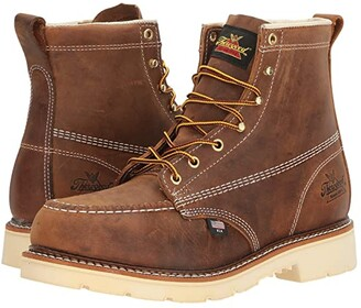 Thorogood American Heritage 6 Steel Toe (Brown Crazy Horse) Men's Work Boots