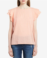 Calvin Klein Jeans Textured Tiered-Sleeve Top