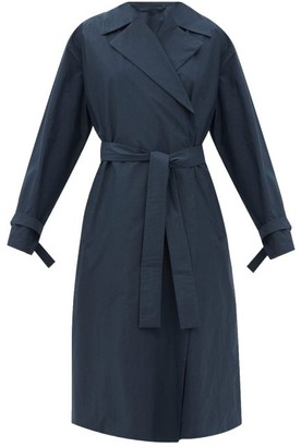 Jil Sander Longline Waterproof-cotton Coat - Navy
