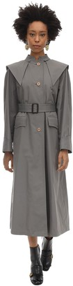 Gucci Oversize Cotton Blend Trench Coat