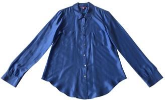 Calypso St. Barth Blue Silk Top for Women
