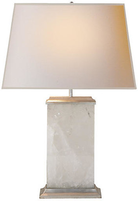Crescent Table Lamp - Antiqued Silver - Visual Comfort