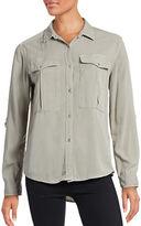 Calvin Klein Jeans Roll-Sleeve Utility Shirt