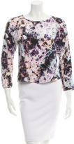 Theyskens' Theory Abstract Print Silk Top