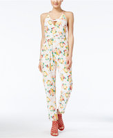 XOXO Juniors' Printed Cutout Jumpsuit