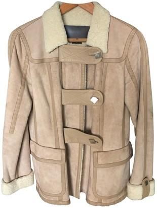 Louis Vuitton Beige Shearling Leather Jacket for Women