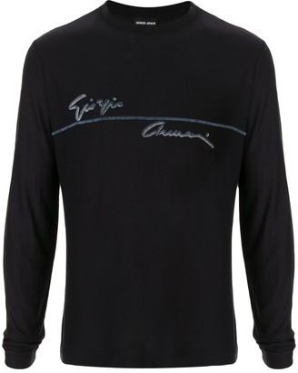 Giorgio Armani Logo Print Jumper