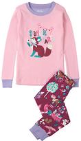 Hatley Children's Slumber Party Applique Pyjamas, Pink