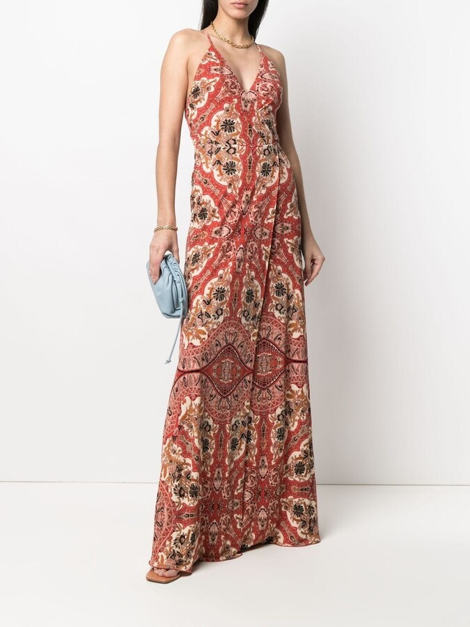Etro Paisley-Print Sleeveless Maxi Dress