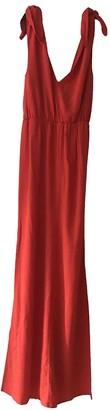 MSGM Orange Viscose Dresses
