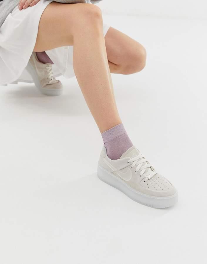 Nike Grey Ice Air Force 1 Sage Sneakers