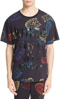 Moschino Men's Allover Shoeprint T-Shirt