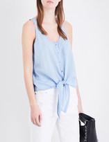 AG Jeans Cynthia cotton-chambray top
