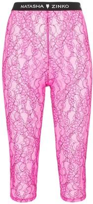 Natasha Zinko lace biker shorts