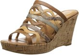 Nine West Women's Entice Synthetic Wedge Sandal