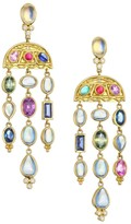 Temple St. Clair Nature Deconstructed 18K Yellow Gold Multi-Gemstone Chandelier Earrings