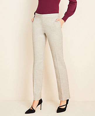 Ann Taylor The Petite Marled Straight Pant
