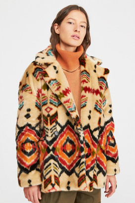 Free People Carmella Fur Coat
